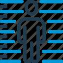 accused, crime, judgement, justice, law, prisoner, scale icon