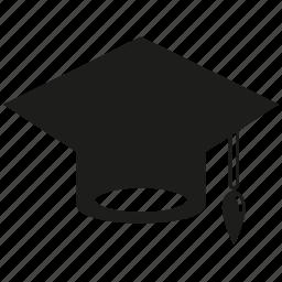 academy, achievement, cap, celebration, graduation, graduation cap, study icon