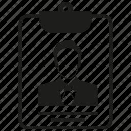 card, id card, man icon