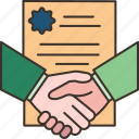 contract, agreement, deal, partnership, document