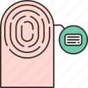 fingerprint, identity, verification, scan, biometric