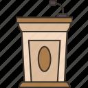 lectern, podium, speaker, speech, presentation