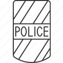shield, protection, police, officer, guard