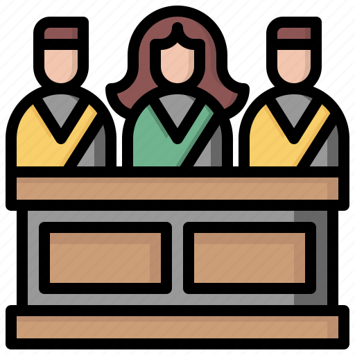 Jury, justice, law, miscellaneous, people, security, trial icon - Download on Iconfinder