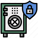 box, business, lock, money, safe, security icon
