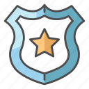 justice, law, logo, police, shield icon