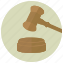 court, gavel, hammer, judge, law, lawsuit, lawyer icon