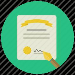 court, decision, judgment, law, sentence, signature, vertict icon