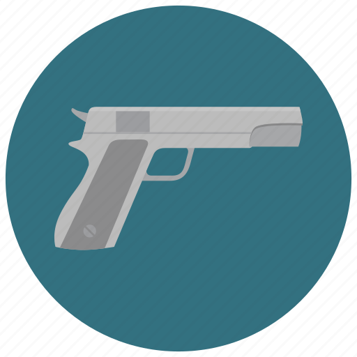 armed, arms, crime, criminal, gun, pistol, weapon icon