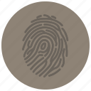 crime, criminal, evidence, fingerprint, forensic, law, scene icon