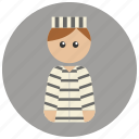 captive, convict, crime, criminal, law, prisoner icon