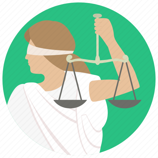 justice, justitia, lady justice, law, law scales, scale icon
