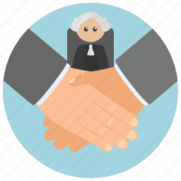 agreement, attorney, court, judge, law, lawyer, settlement icon