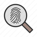 finger, hand, print, scanning icon