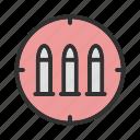 ammo, ammunition, bullets, gun bullets icon