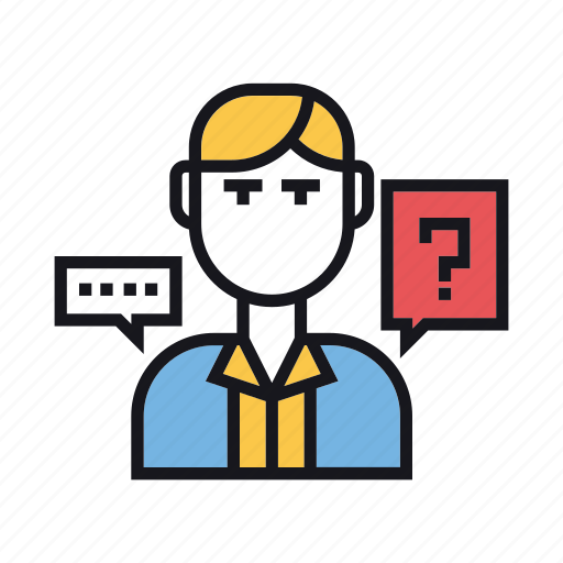 answer, ask, help, info, lawyer, question, support icon