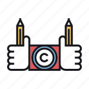 conflict, copyright, duplicate, law icon