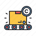 assembly, copyright, design, industrial, industry, manufacturing, production icon