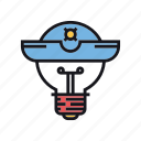 idea, intellectual, piracy, pirate, steal, theft, thief icon