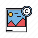 copyright, copyrighted, image, photo, photography, picture, polaroid icon
