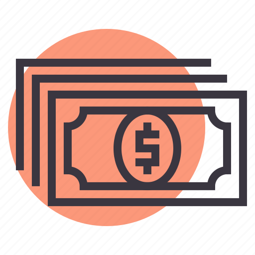 banking, cash, currency, dollar, finance, money, transaction icon