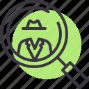 crime, criminal, detective, gangster, investigate, investigation, suspect icon