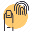 biometric, finger, fingerprint, id, scan, test