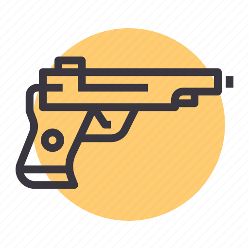 ammuniton, crime, gun, pistol, police, shoot, weapon icon