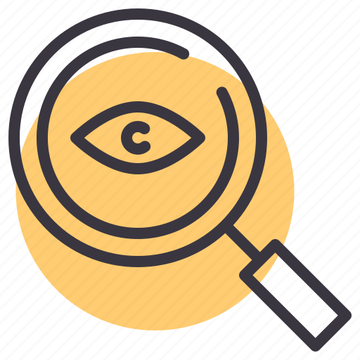 big, brother, detective, eye, magnifying, search, spy icon