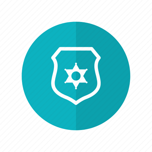 badge, judge, law, police, security icon