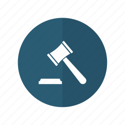 hammer, judge, justice, law, session icon