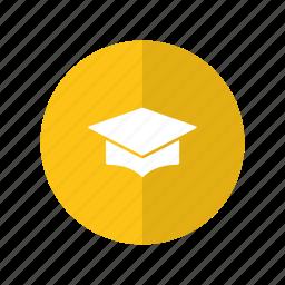 graduation, hat, judge, law, lawyer icon