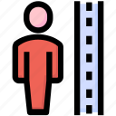 check, height, justice, measure, person, scale icon