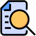 document, judge, justice, law, legal, magnify glass, search icon