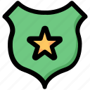 badge, cop, justice, officer, police, sheriff icon