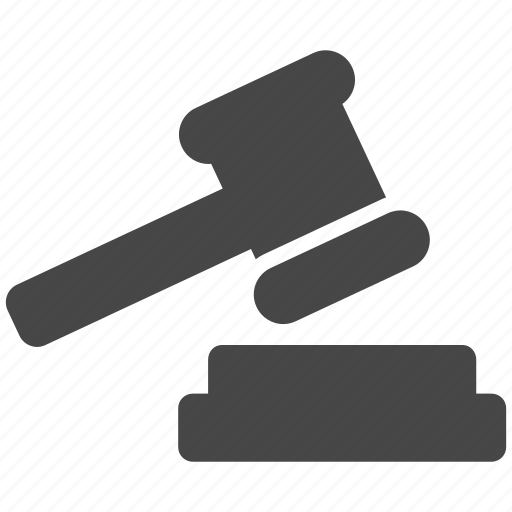 gavel, justice, law, tribunal icon