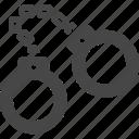 bracelets, handcuff, shackle icon