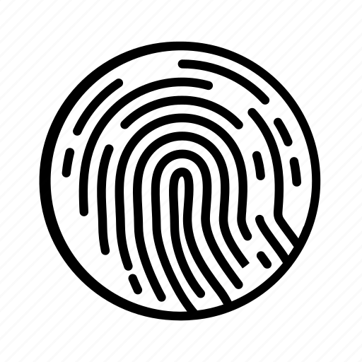 biometric, biometry, finger, fingerprint, identification icon