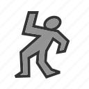body, crime, dead, death, grave, gun, man icon