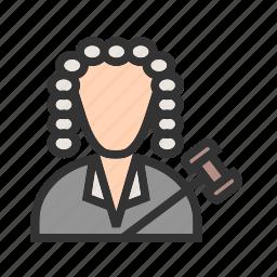 arbitration, court, crime, holding, judge, law, responsibility icon