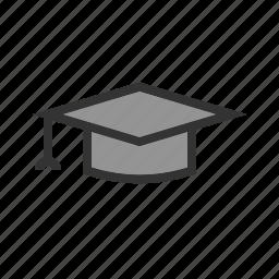 board, cap, celebration, college, graduation, hat, university icon