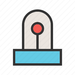 emergency, light, police, red, security, sign, siren icon