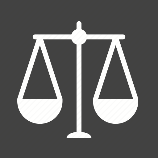 balance, courtroom, justice, law, lawyer, legal, scale icon