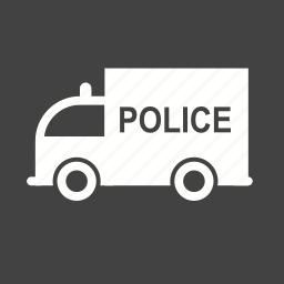 car, highway, police, security, truck, van, vehicle icon