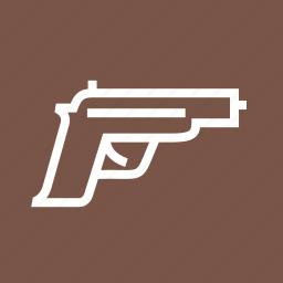 crime, danger, gun, pistol, pistols, weapon icon