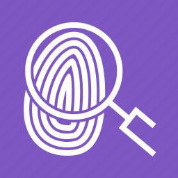 finger, fingerprint, logo, people, print, thumbprint, unique icon