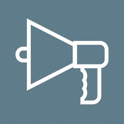 communication, hand, loud, loudspeaker, megaphone, sound, speaker icon