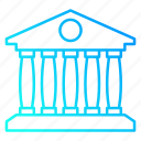 bank, building, house, law and police icon