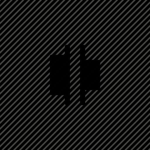 align, design, editor, horizontal, layout, spacing icon
