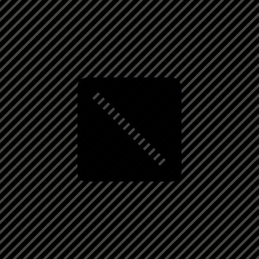 canvas, diagonals, dimensions, layout, metrics, size icon